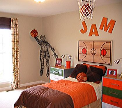 Desain Kamar Tidur Anak Laki Laki Suka Basket