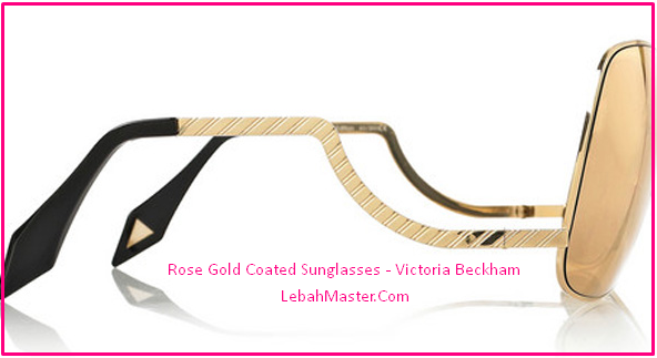 Kacamata Emas Victoria Beckham