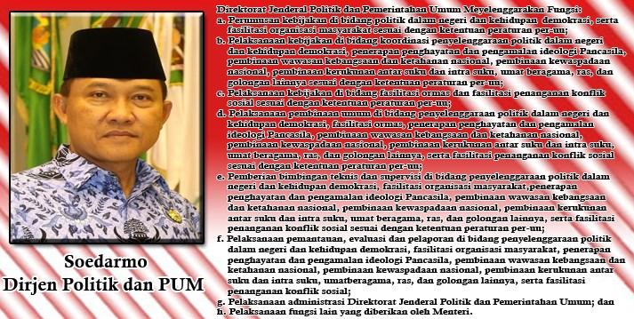 Soedarmo Direktur Jenderal Politik dan Pemerintahan Umum