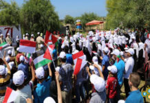 Bendera merah Putih Berkibar Di Gaza palestina