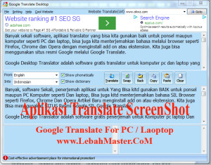 Aplikasi Translate Bahasa