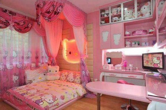 Desain Kamar Tidur Anak Perempuan Hello Kitty