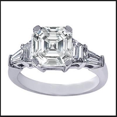 Cincin termahal ke Lima adalah Asscher Cut Diamond