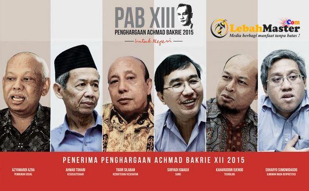 Peraih Penghargaan Achmad Bakrie 2015