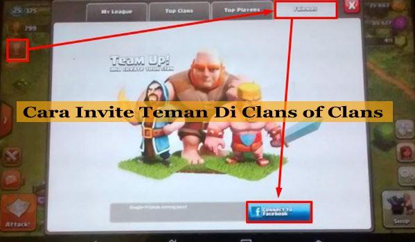 Cara Invite Teman di Clans of Clans