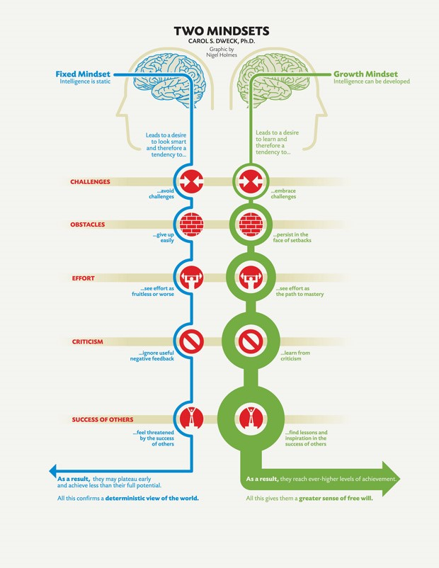 fixed mindset atau growth mindset