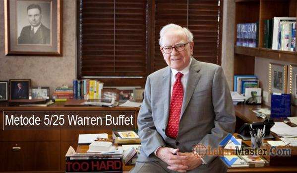 Metode 5 Per 25 Warren Buffet