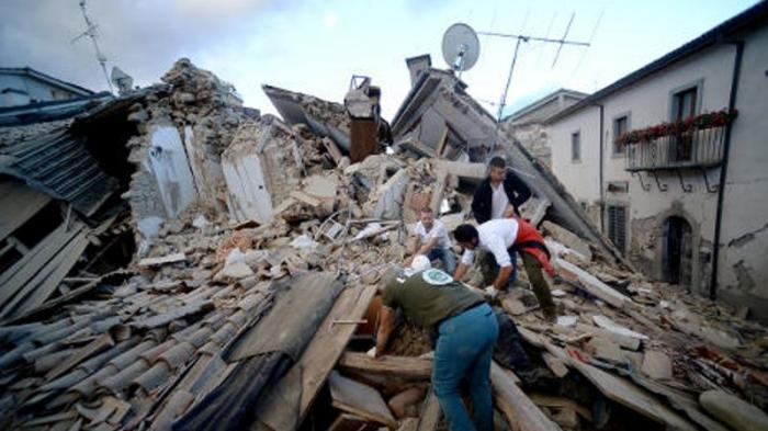 Gempa Bumi Italia 6,2 Skala Richer
