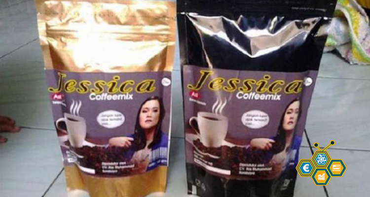 Kemasan Kopi Jessica CoffeMix Buatan Sefri Haris