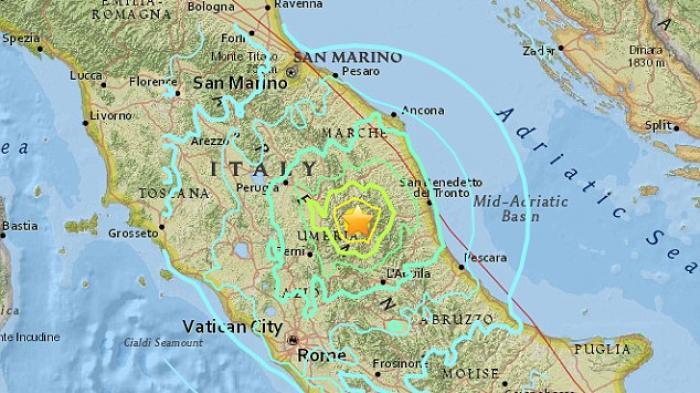 Titik Gempa Bumi Italia