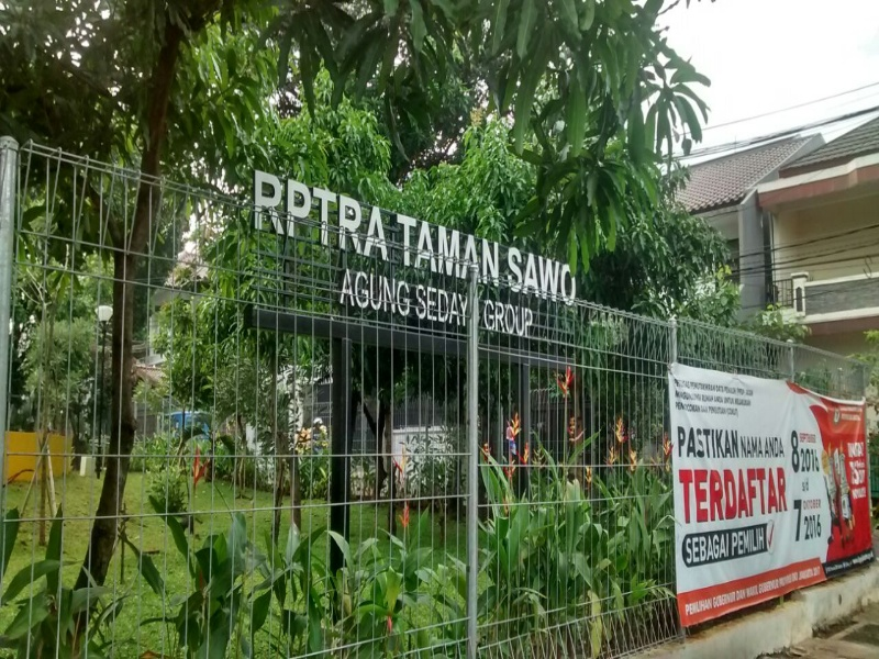 RPTRA Taman Sawo Cipete, Jakarta Selatan, dulunya kumuh dan tempat mesum, sekarang asri tempat wisata murah keluarga