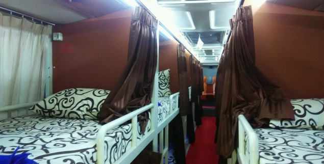 Sleeper Bus PO Brilian Jakarta Purwokerto Wonosobo