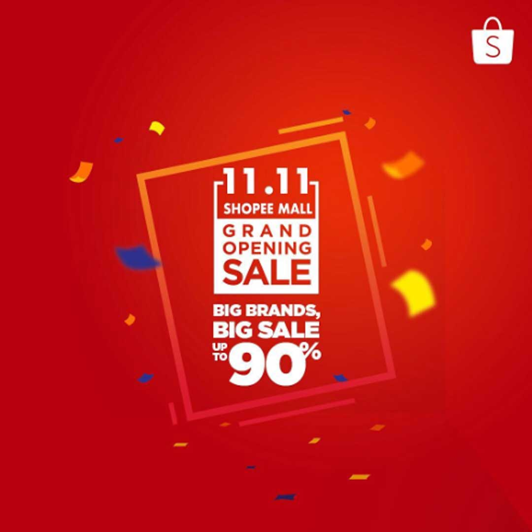 Promo Diskon Flash sale 11.11 Shopee Mall Grand Opening Sale