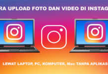 Cara upload foto di instagram lewat lapto